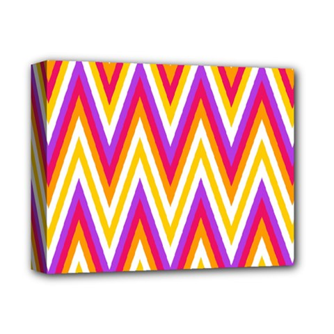 Colorful Chevrons Zigzag Pattern Seamless Deluxe Canvas 14  x 11