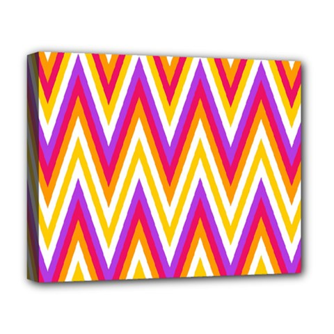 Colorful Chevrons Zigzag Pattern Seamless Deluxe Canvas 20  X 16