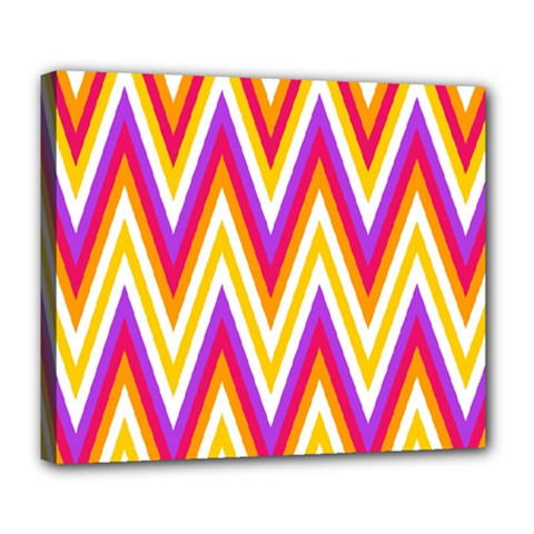 Colorful Chevrons Zigzag Pattern Seamless Deluxe Canvas 24  x 20