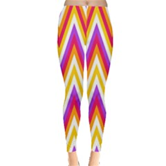 Colorful Chevrons Zigzag Pattern Seamless Leggings