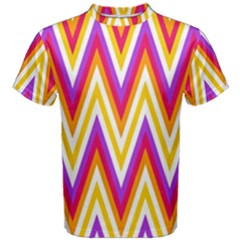 Colorful Chevrons Zigzag Pattern Seamless Men s Cotton Tee