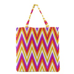 Colorful Chevrons Zigzag Pattern Seamless Grocery Tote Bag