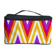 Colorful Chevrons Zigzag Pattern Seamless Cosmetic Storage Case