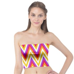 Colorful Chevrons Zigzag Pattern Seamless Tube Top