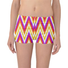 Colorful Chevrons Zigzag Pattern Seamless Boyleg Bikini Bottoms