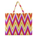 Colorful Chevrons Zigzag Pattern Seamless Zipper Large Tote Bag View1