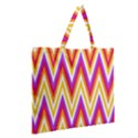 Colorful Chevrons Zigzag Pattern Seamless Zipper Large Tote Bag View2