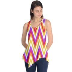 Colorful Chevrons Zigzag Pattern Seamless Sleeveless Tunic