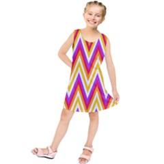 Colorful Chevrons Zigzag Pattern Seamless Kids  Tunic Dress