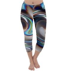 Twirl Liquid Crystal Capri Winter Leggings