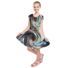 Twirl Liquid Crystal Kids  Short Sleeve Dress