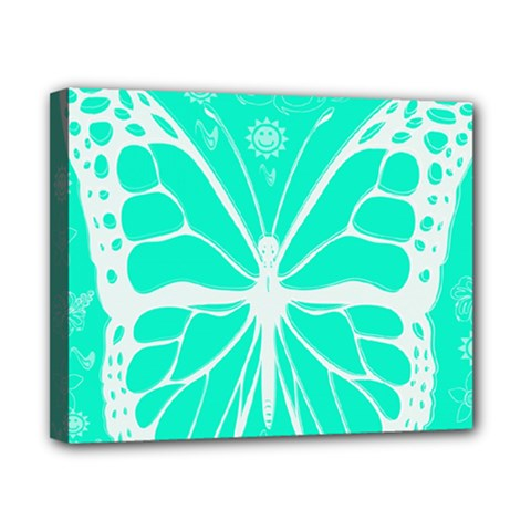 Butterfly Cut Out Flowers Canvas 10  X 8