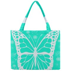 Butterfly Cut Out Flowers Mini Tote Bag