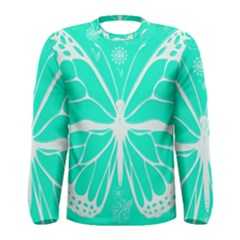 Butterfly Cut Out Flowers Men s Long Sleeve Tee