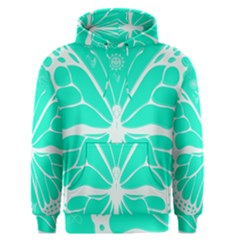 Butterfly Cut Out Flowers Men s Pullover Hoodie