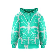 Butterfly Cut Out Flowers Kids  Zipper Hoodie
