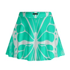 Butterfly Cut Out Flowers Mini Flare Skirt