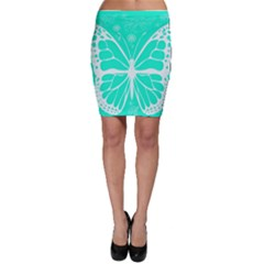 Butterfly Cut Out Flowers Bodycon Skirt