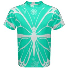 Butterfly Cut Out Flowers Men s Cotton Tee