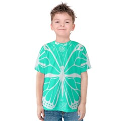 Butterfly Cut Out Flowers Kids  Cotton Tee
