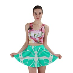 Butterfly Cut Out Flowers Mini Skirt