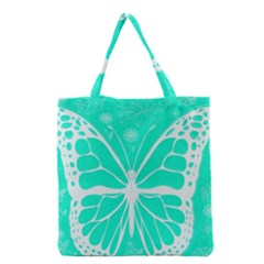 Butterfly Cut Out Flowers Grocery Tote Bag
