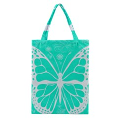 Butterfly Cut Out Flowers Classic Tote Bag