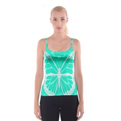 Butterfly Cut Out Flowers Spaghetti Strap Top