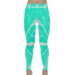 Butterfly Cut Out Flowers Classic Yoga Leggings