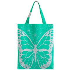 Butterfly Cut Out Flowers Zipper Classic Tote Bag
