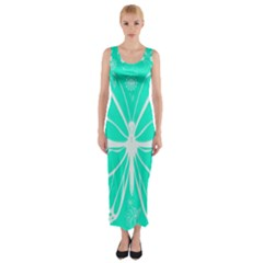 Butterfly Cut Out Flowers Fitted Maxi Dress