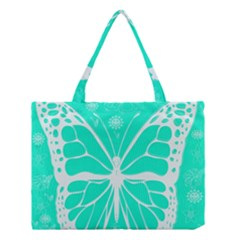 Butterfly Cut Out Flowers Medium Tote Bag