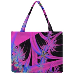 Fractal In Bright Pink And Blue Mini Tote Bag