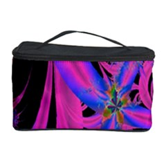 Fractal In Bright Pink And Blue Cosmetic Storage Case