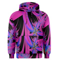 Fractal In Bright Pink And Blue Men s Pullover Hoodie