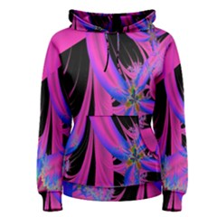 Fractal In Bright Pink And Blue Women s Pullover Hoodie
