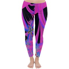 Fractal In Bright Pink And Blue Classic Winter Leggings