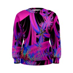 Fractal In Bright Pink And Blue Women s Sweatshirt