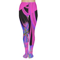 Fractal In Bright Pink And Blue Women s Tights