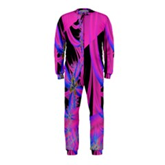 Fractal In Bright Pink And Blue OnePiece Jumpsuit (Kids)