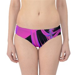 Fractal In Bright Pink And Blue Hipster Bikini Bottoms