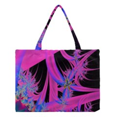 Fractal In Bright Pink And Blue Medium Tote Bag