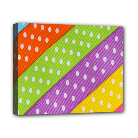 Colorful Easter Ribbon Background Canvas 10  X 8