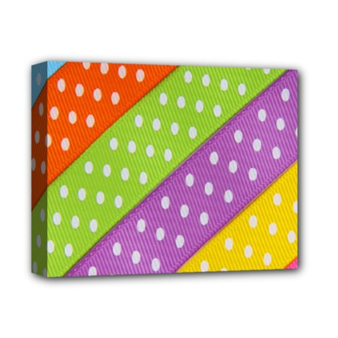 Colorful Easter Ribbon Background Deluxe Canvas 14  x 11