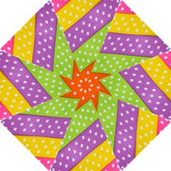 Colorful Easter Ribbon Background Hook Handle Umbrellas (small)