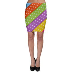 Colorful Easter Ribbon Background Bodycon Skirt