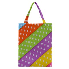 Colorful Easter Ribbon Background Classic Tote Bag
