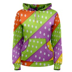 Colorful Easter Ribbon Background Women s Pullover Hoodie