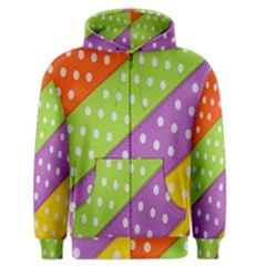 Colorful Easter Ribbon Background Men s Zipper Hoodie