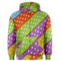 Colorful Easter Ribbon Background Men s Zipper Hoodie View1
